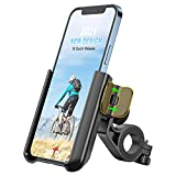 Grefay Bike Phone Mount, 360° Rotation Adjustable Anti Shake Motorcycle Handlebar Phone Holder 【1S Quick Release】 Bicycle Phone Clamp for Road Bike MTB Scooter Fits 3.5-7.0 inches Cellphone