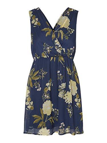 VERO MODA Damen VMLUCCA SL Short Dress WVN CE Kleid, Night Sky, S