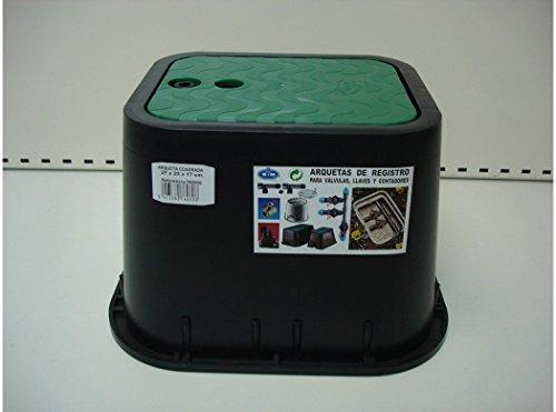 S&M 760808 Arqueta rectangular para riego enterrado 2 salidas