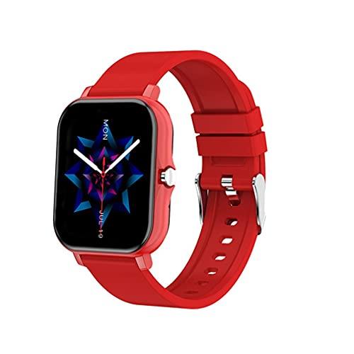 WXZQ H20 Wireless Smartwatch Sport Fitness Pulsera Full Touch Square Pulsera Rojo