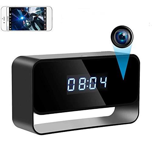 置き時計型小型カメラ WIFI隠しカメラ 長時間録画150度広角レンズ 遠隔監視カメラ 動体検知 不可視赤外線 暗闇撮影 スマホ対応