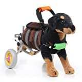 Chien en fauteuil roulant pour les pattes arrière, réglable en fauteuil roulant pour animaux de...