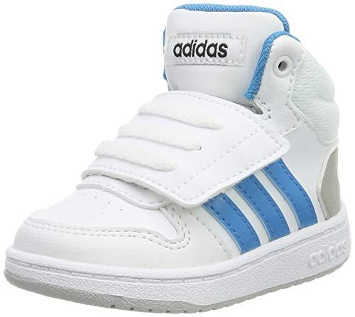 adidas Hoops Mid 2.0 i, Zapatillas Unisex bebé, Bianco FTWR White Shock Cyanco Core Black FTWR White Shock Core Black, 23.5 EU