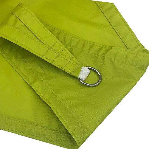 Charm4you Vela de Sombra Protección UV para,Triángulo Impermeable al Aire Libre Tela Oxford Sombra Sail-Green_3 * 3 * 3,Vela de Sombra Protección UV para Patio