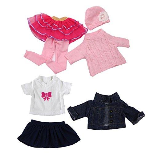 Sharplace 2 Sets Schöne Puppen Herbst Kleidung Outfit Bekleidung Für 18 '' American Girl Puppe Dress up Zubehör