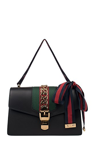 Fashion Shopping Gucci Women's 421882CVLEG8638 Black Leather Handbag