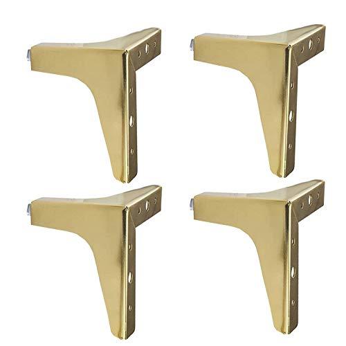 Patas para muebles Patas Regulables para Muebles de Cocina o baño,4 piezas, Pies de gabinete de altura, patas de mesa, patas de muebles(dorado)