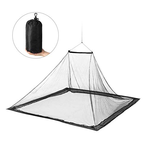 KJBGS Camping Zelt Camping Net Outdoor Net Outdoor Zelt Netto für Zwei Personen, Rucksack mit Rucksack Trekking Camping Zeltreise Bequem und langlebig (Color : Black)