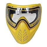 Máscara de paintball de Halloween de de de de Máscara de Airsoft BBs CS Juego de accesorios del traje de la Cara llena táctica de Equipo de Protección con los vidrios campo a travésde(Yellow,Yellow)