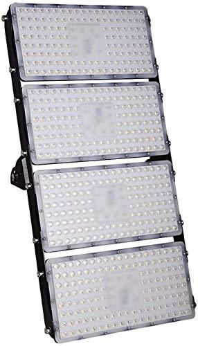 Luces de inundación LED de 400 W, luces de seguridad súper brillantes de 32000 lm, iluminación exterior impermeable IP65, luces de pared blancas cálidas (2800-3000 K) para garaje, patio, patio, almacé