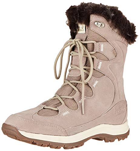 Jack Wolfskin Glacier bay Texapore High W Wasserdicht, Scarpe da Arrampicata Alta Donna, (Light Grey/Champagne 6124), 40 EU