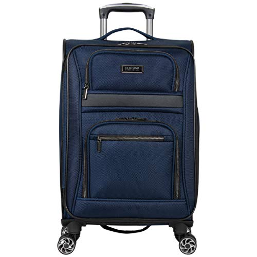 Kenneth Cole Reaction Rugged Roamer 20' Softside Expandable 8-Wheel Spinner Carry-On Travel Suitcase, Navy, inch