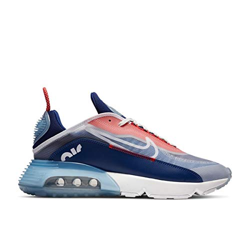 Nike Air MAX 2090, Zapatillas de Gimnasio Hombre, White Chile Red Deep Royal Blue White, 45 EU