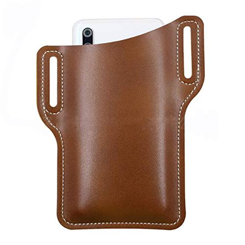 GGQT Retro Handy Ledertasche Gürtel Tasche, Handy Träger Gürtel Tasche, Mode PU Leder Taille Gürtel Loop Bag