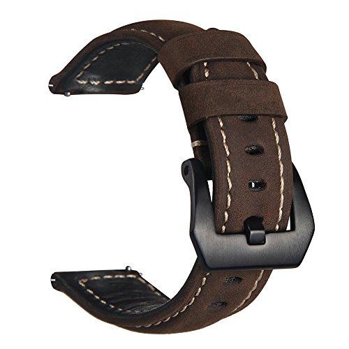 V-MORO Gear S3 Frontier/Classic Watch Armband,Galaxy Watch 46mm Armband, Echtes Leder Ersatzband...