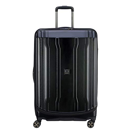 DELSEY Paris Cruise Lite Hardside 2.0 Expandable Luggage, Spinner Wheels, Black, Checked-Large 29 Inch
