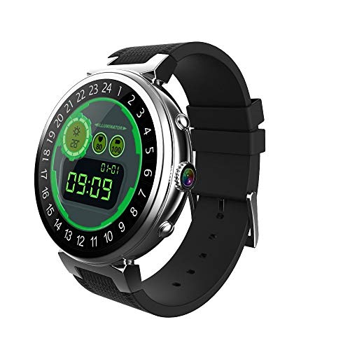 HXZB Android Smart Watch Ultradunne ronde scherm GPS Positionering WiFi Photo Call Google Map Multi-dial