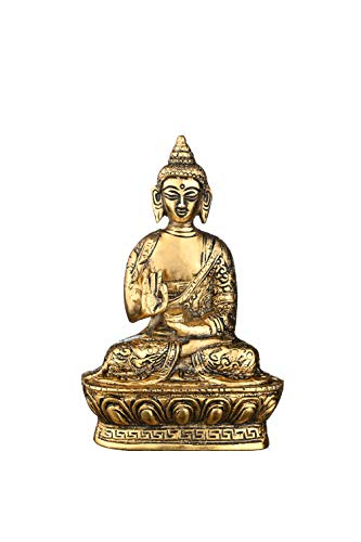 CMEI Buddha Statues for Home. 7' Buddha Statue (Blessing or Protection Buddha). Collectibles and Figurines, Meditation Decor, Spiritual Living Room Decor, Yoga Zen Decor, Hindu and East Asian Décor