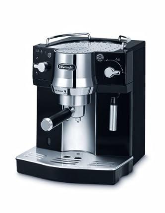 Delonghi EC820.B Cafetera Espresso, 1450 W, 1 Litro, Acero Inoxidable, Negro/Plateado
