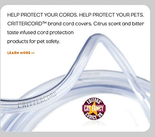 CritterCord Electric Cord Cover Odorless Cord Covers For Pets Keeps Dogs Cats Other Pets Protected from Biting and Chewing Electrical Cord Covers Cables