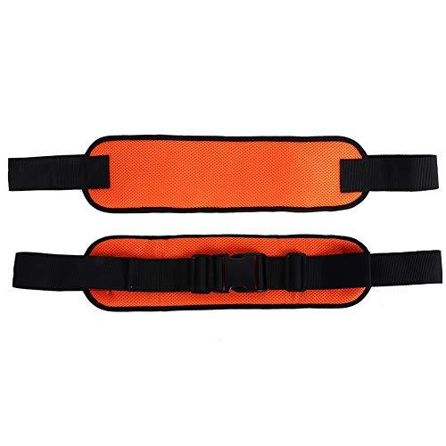 Fdit Cinturón de Seguridad para Silla de Ruedas Malla Ajustable Seguridad Correa de cinturón Transpirable para Personas Mayores de Pacientes en Silla de Ruedas (17.7x17.7x24.4in)(Naranja)