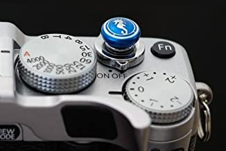 Lensmate Seahorse Soft Release Button - Blue - fits Any Standard Threaded Release - Fujifilm X-T3, X-E3, X-E2s, X-E2, X-T2, X-Pro2, X-T20 & X-T10, X100F & X100T & X100s