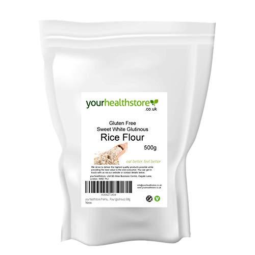 yourhealthstore Harina de arroz blanco dulce sin gluten premium (glutinoso) 500 g