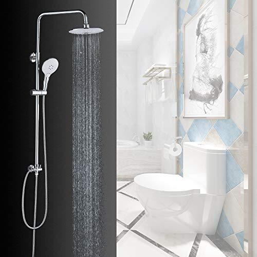 Grifo de la Ducha retro en latón –cascada kit con soporte extensible – ducha lluvia