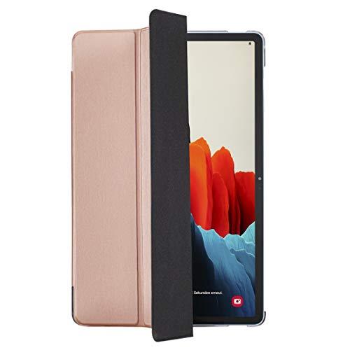 Hama Hülle für Samsung Galaxy Tab S7 11 Zoll und S-Pen (aufklappbares Tablet-Case, Schutzhülle mit Standfunktion, transparente Rückseite, magnetisches Cover mit Auto Wake/Sleep) rosa