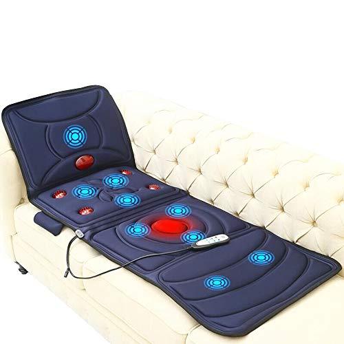 MEISHENG Masajeador eléctrico de Espalda con calefacción, colchón de Masaje Cuello de...