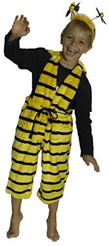 narrenkiste K31250946-116-128-A schwarz-gelb Kinder Jungen Mädchen Bienen Latzhose Gr.116-128