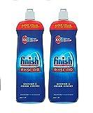Finish Dishwasher Rinse Aid 800ml - Regular Pack of 2