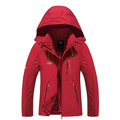Comcrib Damen Softshelljacke Atmungsaktive Wasserabweisende Wanderjacke Verschleißfeste Übergangsjacke Outdoorjacke