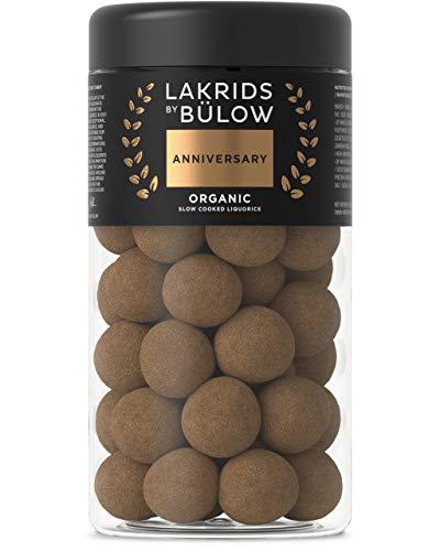 LAKRIDS BY BÜLOW - ANNIVERSARY - 295g - Langsam gekochte Bio-Lakritze umhüllt von luxuriöser Milchschokolade - Basierend auf dem Originalrezept von 2007