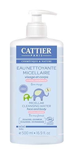 Cattier Eau nettoyante micellaire bébé bio 500ml