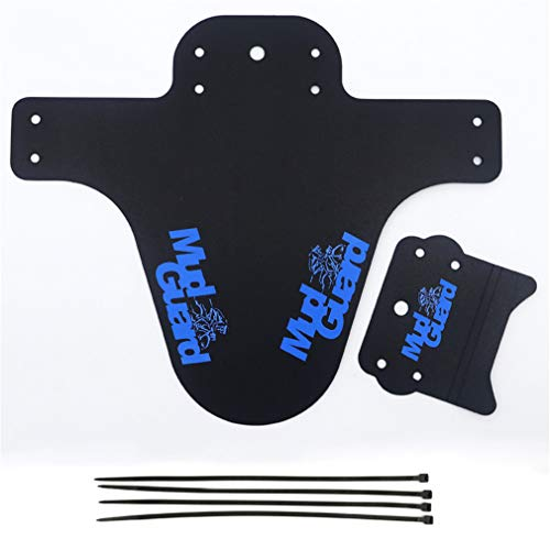 YLYBDDD Colorful MTB Road Bike Mud Flaps Cycling Bicycle Wings Front Bicycle Mudguard Mountain Bicycle Fenders Cycling Accessories Blue 1 Set