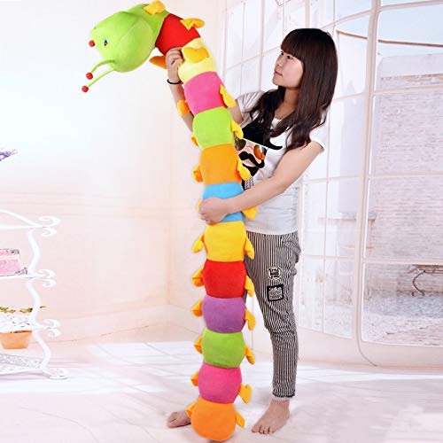CGDX 50 cm Colorido Largo cognitivo Felpa Gusano muñeca rellena Juguetes Suave Gusano cojín Regalo Educativo para cumpleaños