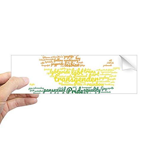 DIYthinker Vogel Vrede Regenboog Lgbt Wordcloud Rechthoek Bumper Sticker Notebook Window Decal
