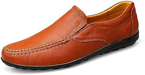 Easy Go Shopping Obermaterial aus aus aus Weißhem Leder für Herren leichte Rutschfeste runde Kopf Detail Schuhe Flache Unterseite langlebig atmungsaktiv elastische Schuhe,Grille Schuhe  Kommen Sie und wählen Sie Ihren eigenen Sportstil