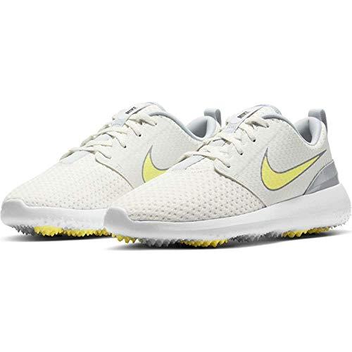 Nike Roshe G, Zapatos de Golf Mujer, Summit White Lt Zitron White, 38 EU