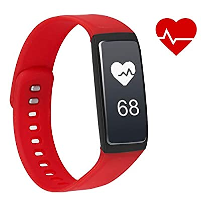 iKustar Fitness Tracker Smart Bracelet Pedometer Heart Rate Monitor Sleep Monitor Calorie Counter Pedometer Sport Activity Tracker with HD OLED Touch Screen for Android and iOS Smart Phone