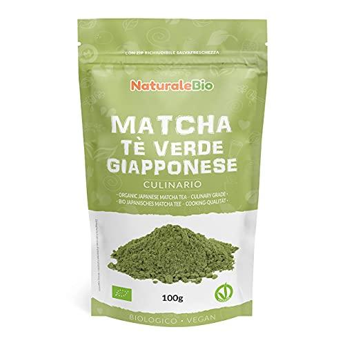 Té Verde Matcha Orgánico Japonés En Polvo [ Grado Culinario ] 100 gr. Matcha Biológico para...