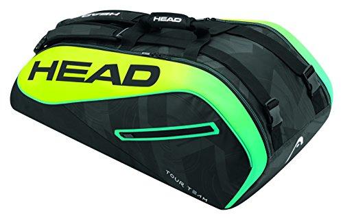 HEAD Extreme 9R Supercombi - Borsa per racchette da tennis, unisex, taglia unica, colore: Nero/Giallo/Blu