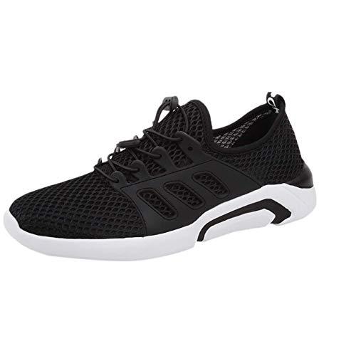Sayla Zapatos Zapatillas para Hombres Casual Moda Verano Running Zapatillas De Deporte Transpirables Ligeras Y Planas Deportivas Y Corrientes Zapatos De Plataforma con Malla