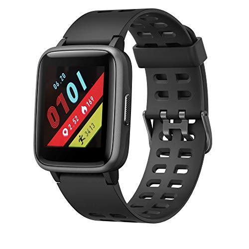 LEOTEC LESW17K, Smartwatch Multisport Worldfit, Negro