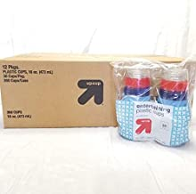 Up&Up Clear With Red And Blue Stripes 16oz Solo Cups -Case of 360 cups
