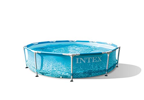 Intex 55241 - Piscina desmontable redonda, Metal Frame, con depuradora 1.250l/h, diámetro305x76 cm, 4.485 litros, diseño fotorrealista del fondo marino