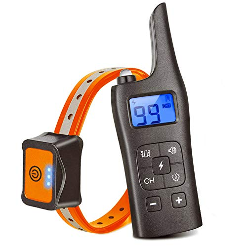 Dog Training Collar, Rechargeable Dog Shock Collar with Remote, 4 Training Modes Beep, Vibration, Shock, Light, Up to 2500Ft Remote Range and Waterproof Dog Training Set for Small to Large Dogs