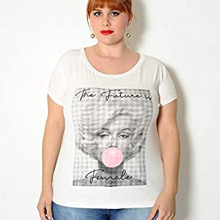 T-shirt Plus Size Marylin Off White