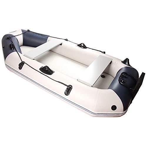Canness Aufblasbares Kajak Set 3 Person 300 kg Ladekapazität Schlauchboot mit Zubehör Angeln Schlauchboot 230x115x30cm Kanu Fischerboot (Color : White, Size : 230x115x30cm)